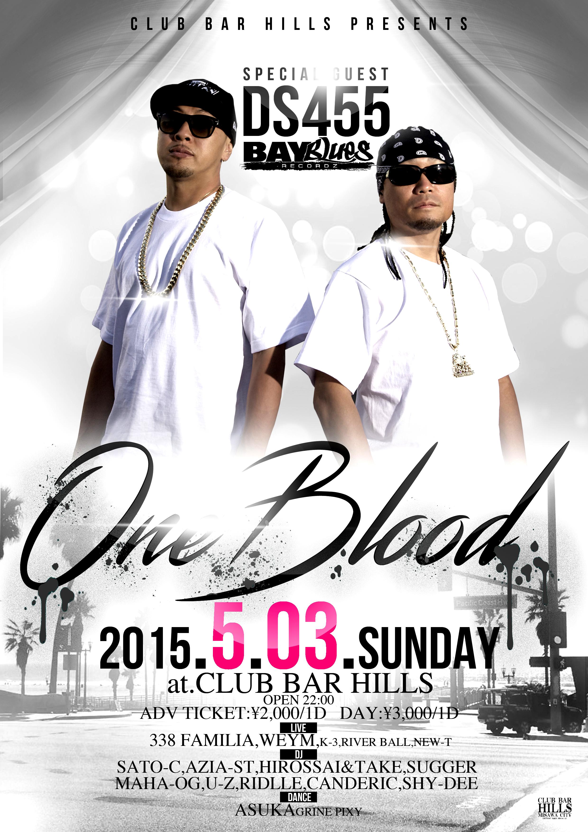 5月3日(日)「ONE BLOOD」@青森県三沢市 CLUB BAR HILLS