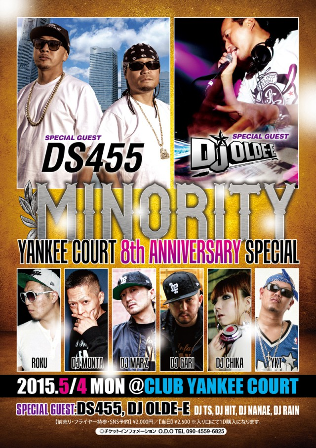5月4日(月 ※祝日)「MINORITY YANKEE COURT 8th ANNIVERSARY SPECIAL」@宮城県仙台市 CLUB YANKEE COURT